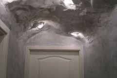 Faux plafond après facon grotte