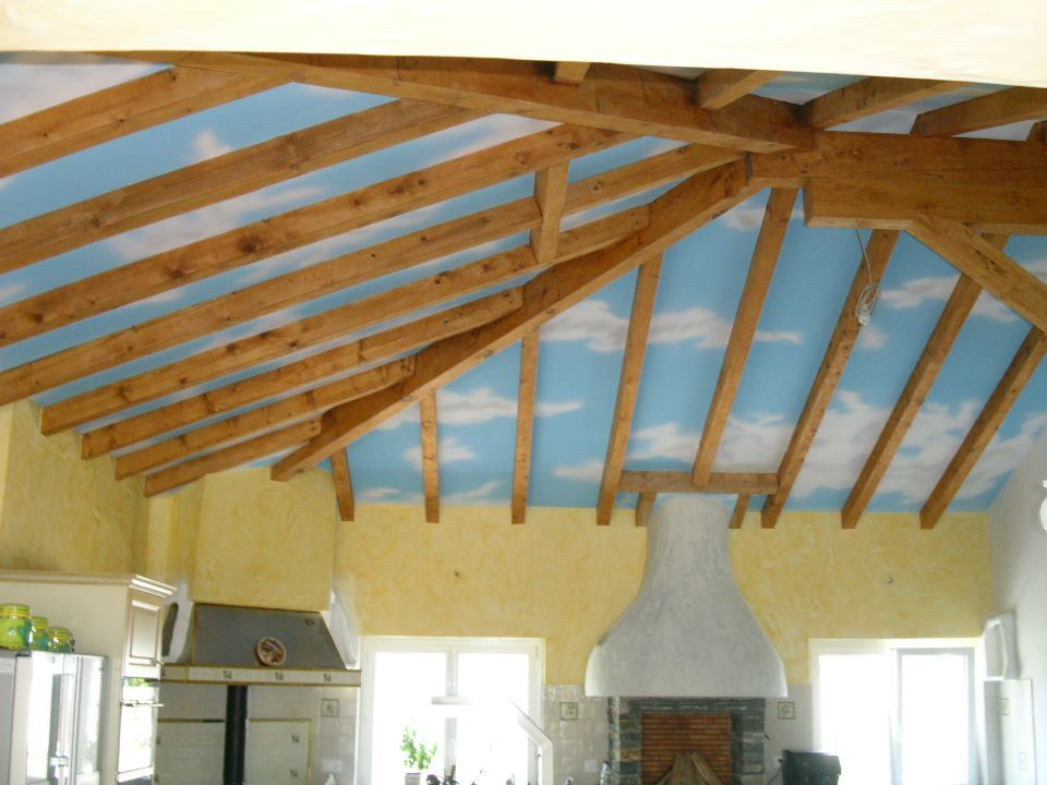 effet nuage au plafond