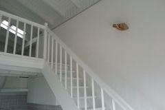 Peinture au plafond - escalier