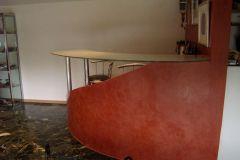 Création d'un bar en platre et Stucco